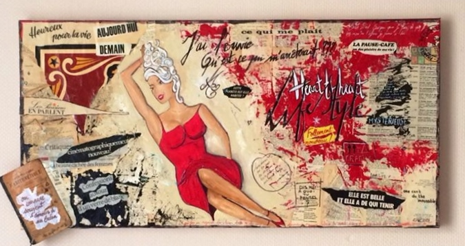 Archimagie  - Thème :   Une pin up , du rouge...