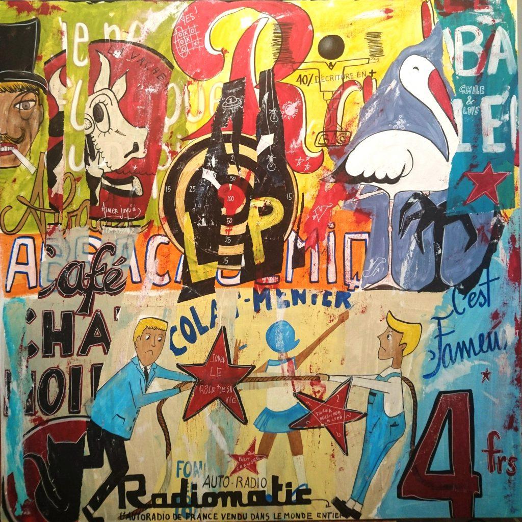 Baz'Art   100x100 cm  Vendu
