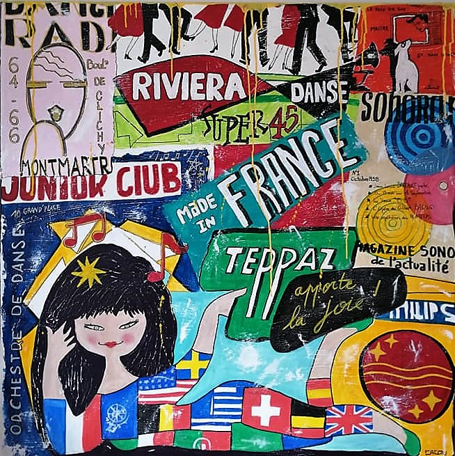 Made in France   100x100cm   Vendu