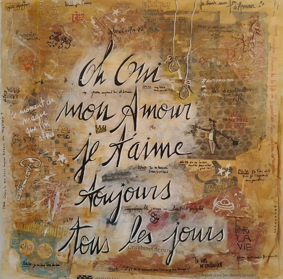 Exclusif St Barth : Oh Oui mon Amour  80x80  550 €