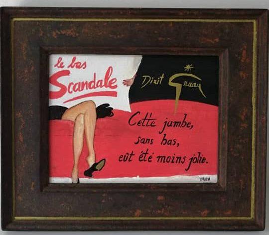 Dixit Gruau   25x30 cm Cadre Imitation rouille 90 €